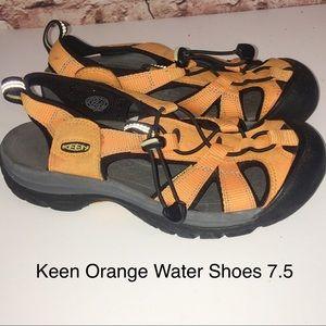 KEEN Newport Orange  Hiking Water Shoes-7 1/2